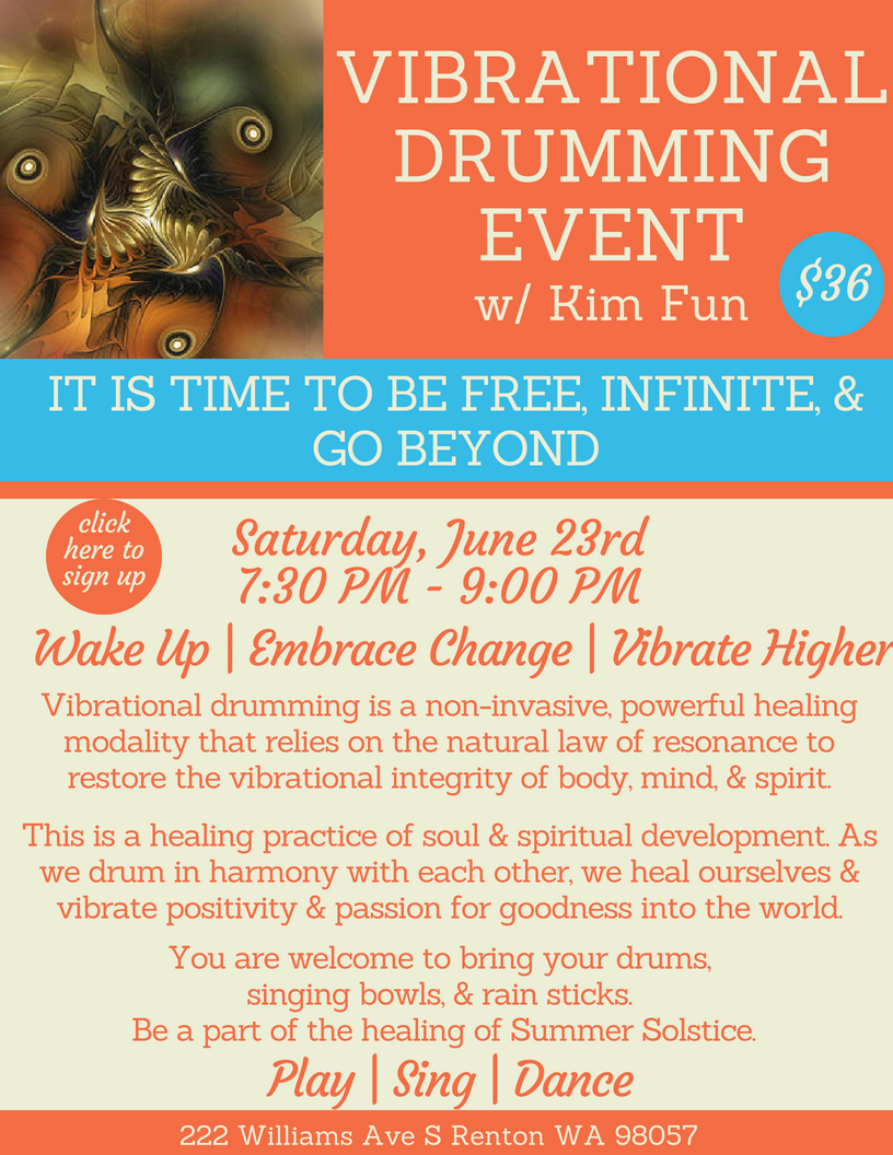 Vibrational Drumming Event
