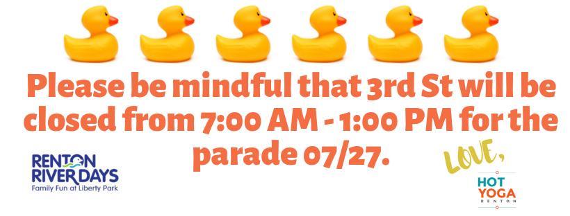 Parade Closure